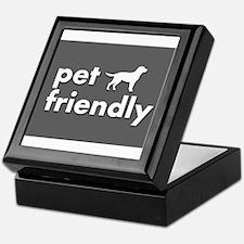 pet friendly art illustration Keepsake Box