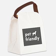 pet friendly art illustration Canvas Lunch Bag