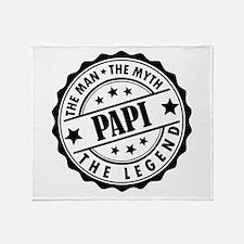 Papi - The Man The Myth The Legend Throw Blanket