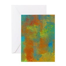 Blue, Copper, and Gold Abstract Greeting Card