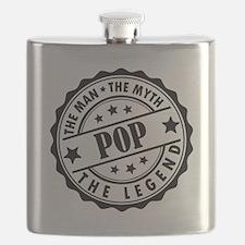 Pop - The Man The Myth The Legend Flask