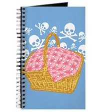Cute Skulls Picnic Basket Journal