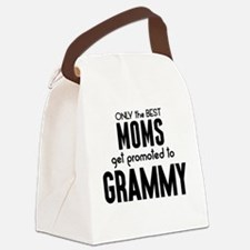 BEST MOMS GET PROMOTED TO GRAMMY Canvas Lunch Bag