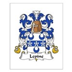 Lepine Family Crest  Small Poster