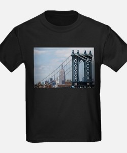 Empire State Building Manhattan Bridge NYC T-Shirt