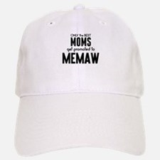 BEST MOMS GET PROMOTED TO MEMAW Baseball Baseball Baseball Cap