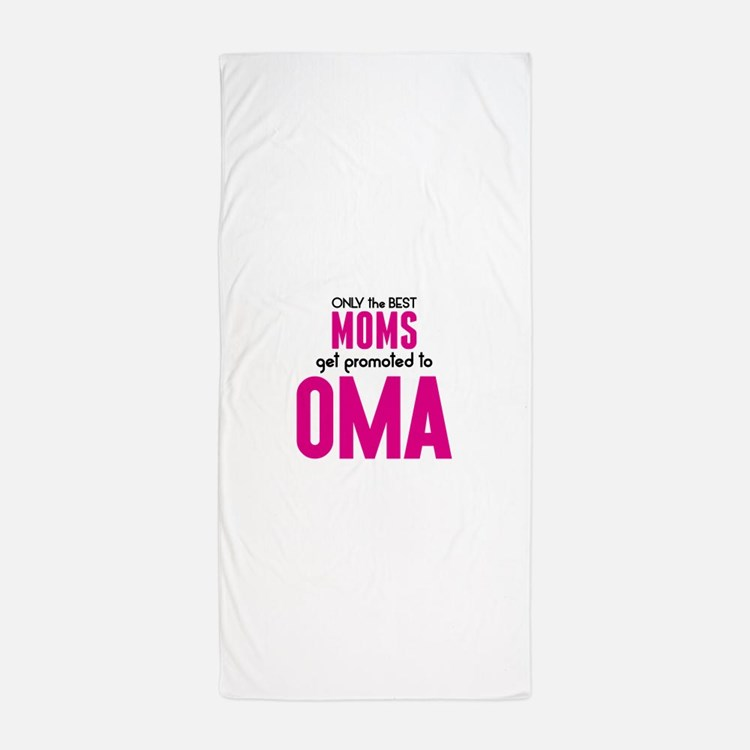 BEST MOMS GET PROMOTED TO OMA Beach Towel