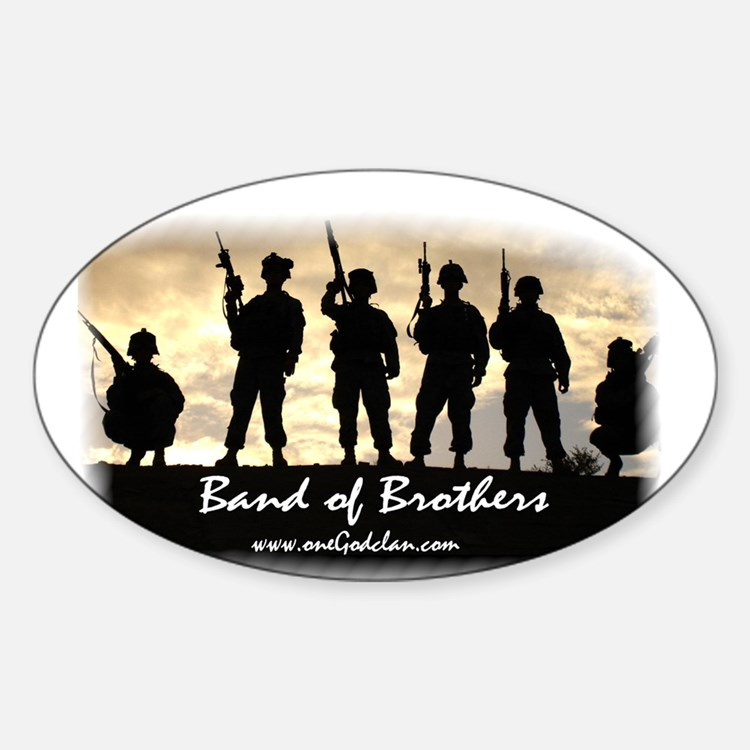 Cute Band Sticker (Oval)