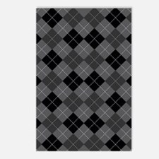Black Gray Argyle Postcards (Package of 8)