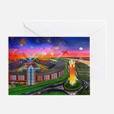 Jones Beach Theatre with Fireworks Greeting Card