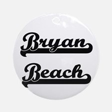 Bryan Beach Classic Retro Design Ornament (Round)