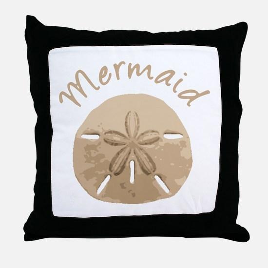 Fun Summer Holiday Mermaid Sand Dollar Throw Pillo