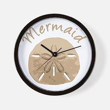 Fun Summer Holiday Mermaid Sand Dollar Wall Clock