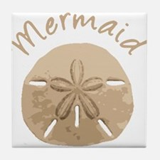 Fun Summer Holiday Mermaid Sand Dollar Tile Coaste