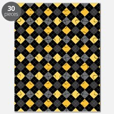Yellow Charcoal Argyle Puzzle