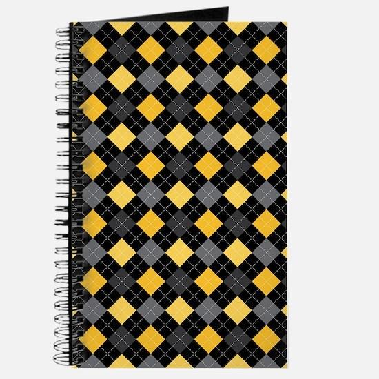 Yellow Charcoal Argyle Journal
