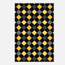 Yellow Charcoal Argyle Postcards (Package of 8)