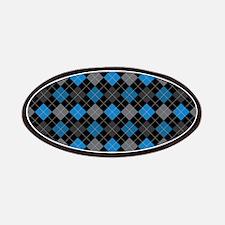 Blue Charcoal Argyle Patches