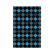 Blue Charcoal Argyle Rectangle Magnet (100 pack)