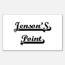 Jenson'S Point Classic Retro Design Decal
