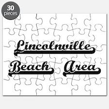 Lincolnville Beach Area Classic Retro Desig Puzzle