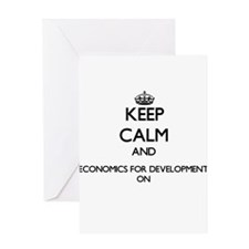 Keep Calm and Economics For Develop Greeting Cards