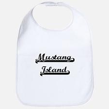 Mustang Island Classic Retro Design Bib