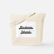 Mustang Island Classic Retro Design Tote Bag