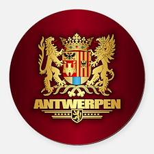 Antwerpen COA Round Car Magnet