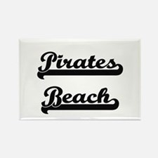 Pirates Beach Classic Retro Design Magnets