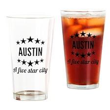 Austin A Five Star City Drinking Glass