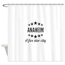 Anaheim A Five Star City Shower Curtain