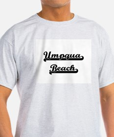 Umpqua Beach Classic Retro Design T-Shirt