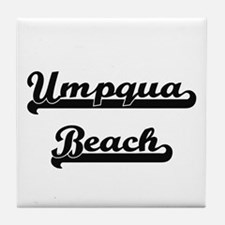Umpqua Beach Classic Retro Design Tile Coaster