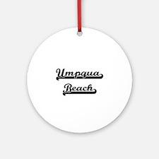 Umpqua Beach Classic Retro Design Ornament (Round)