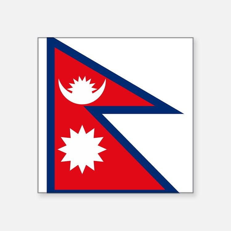 """Cute Nepal Square Sticker 3"""" x 3"""""""