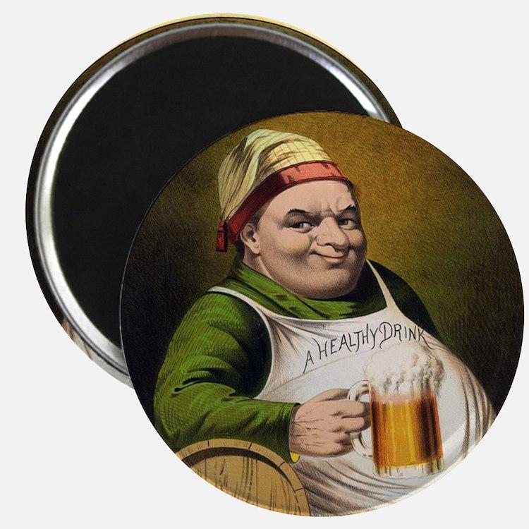 Vintage Lager Beer Advertisement Magnets