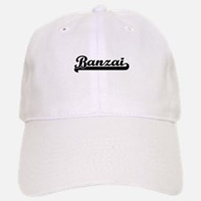 Banzai Classic Retro Design Baseball Baseball Cap