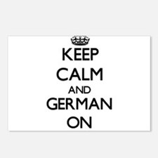 Keep Calm and German ON Postcards (Package of 8)