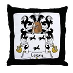 Legay Family Crest Throw Pillow