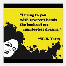 """Books of numberless dreams Square Car Magnet 3"""" x"""