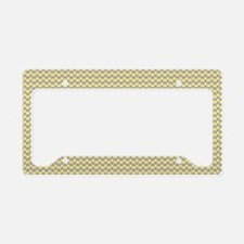 Yellow Gray Houndstooth License Plate Holder