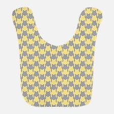 Yellow Gray Houndstooth Bib