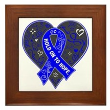 Dysautonomia Hold on to Hope Framed Tile