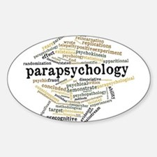 Parapsychology Wordle Sticker (Oval)