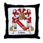 Leduc Family Crest Throw Pillow