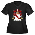 Leduc Family Crest Women's Plus Size V-Neck Dark T