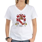Leduc Family Crest Women's V-Neck T-Shirt