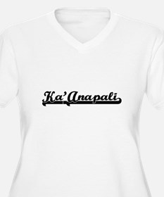 Ka'Anapali Classic Retro Design Plus Size T-Shirt
