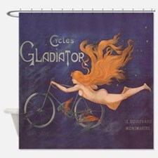 Cycles Gladiator Vintage Poster Shower Curtain